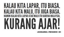 Ganyang Malaysia oleh Soekarno